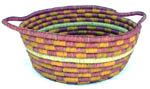 Aboriginal basket with coiled handle