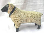 Larry Ben pottery folk art sheep