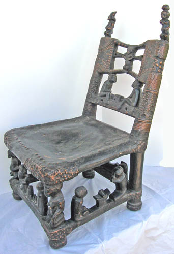 African art Tchokwe chair