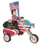Delbert Buck patriotic cycle folk art