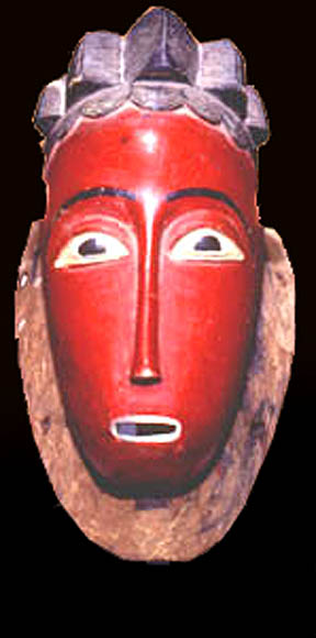 Baule African tribal art mask